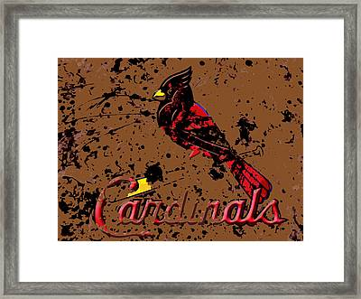 The St Louis Cardinals 6c Framed Print by Brian Reaves