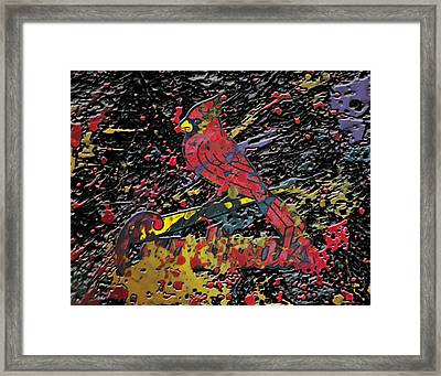 The St Louis Cardinals Plaster  Framed Print