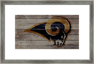 The St Louis Rams 2w Framed Print by Brian Reaves