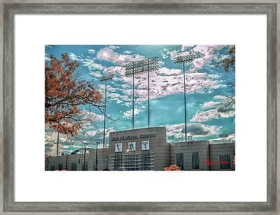 The Stadium Framed Print by Kyzer Kane