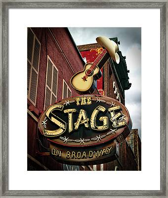 The Stage On Broadway Framed Print by Mountain Dreams