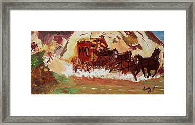The Stagecoach Framed Print