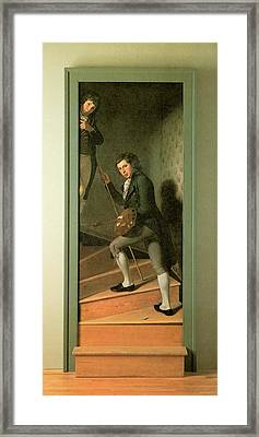 The Staircase Group Framed Print by Charles Wilson Peale
