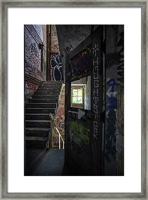 The Stairs Beyond The Door Framed Print