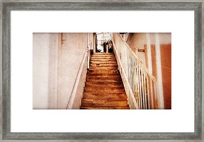 The Stairwell Between Framed Print by Glenn McCarthy Art and Photography