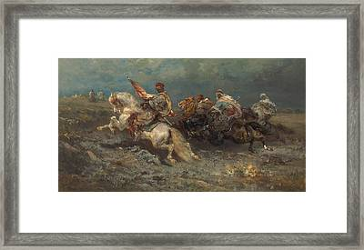 The Stampede Framed Print