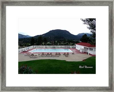 The Stanley Hotel Pool Framed Print