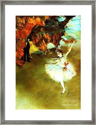 The Star By Edgar Degas Framed Print by Pg Reproductions