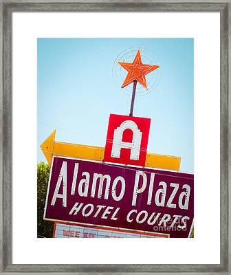 The Star Of Alamo Plaza Framed Print