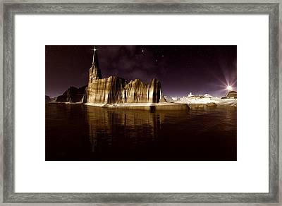 The Star Of Bethlehem Framed Print by Heinz G Mielke