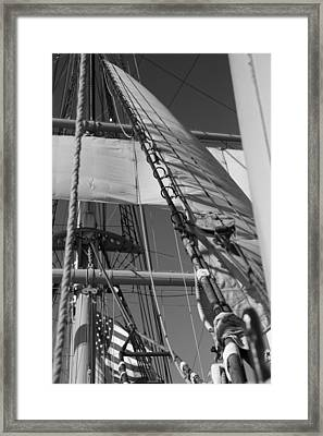 The Star Of India Mast Framed Print