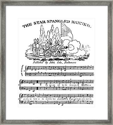 The Star Spangled Banner Framed Print