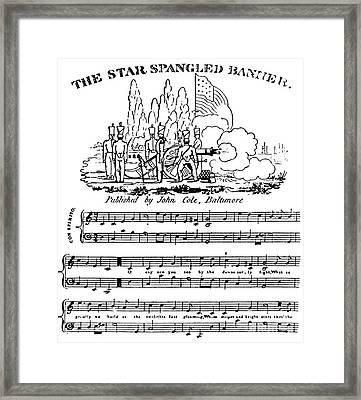 The Star Spangled Banner Framed Print by Francis Scott Key