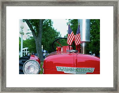 Framed Print featuring the photograph The Star-spangled Banner Waves by Wanda Brandon