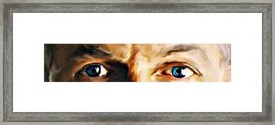 The Stare Framed Print by Crystal Webb