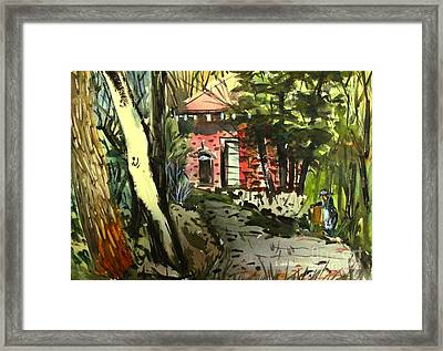 The Stark Peeled Ashmatted Glassedframed Framed Print by Charlie Spear