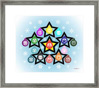 The Stars Align For Christmas Framed Print
