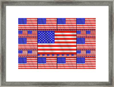 The Stars And Stripes 2 Framed Print by Mike McGlothlen