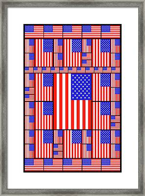 The Stars And Stripes 3 Framed Print by Mike McGlothlen