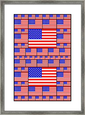 The Stars And Stripes 4 Framed Print by Mike McGlothlen