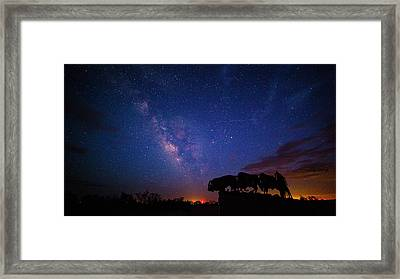 The Stars At Night Are Big And Bright Framed Print by Stephen Stookey