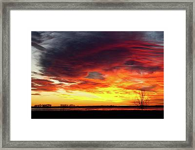 The Start Of A Colorful  Day Colorado Sunrise Image Framed Print