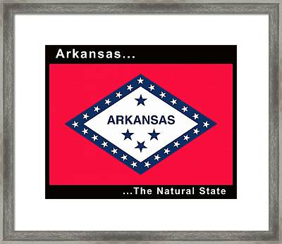 The State Flag Of Arkansas Framed Print by Floyd Snyder