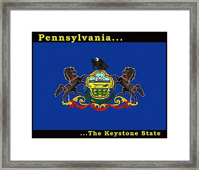 The State Flag Of Pennsylvania Framed Print by Floyd Snyder