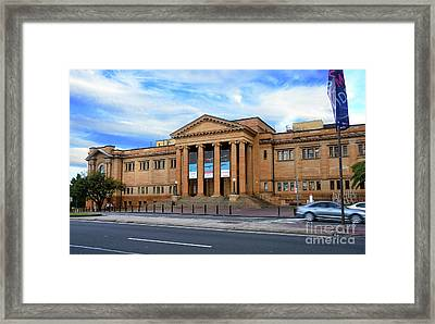 Framed Print featuring the photograph The State Library Of New South Wales By Kaye Menner by Kaye Menner