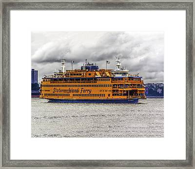 The Staten Island Ferry Framed Print