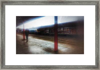 Framed Print featuring the photograph The Station by Isabella F Abbie Shores FRSA