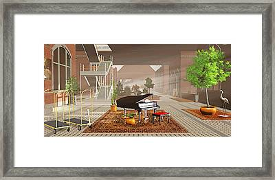 The Station Framed Print by Peter J Sucy