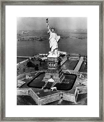 The Statue Of Liberty, New York City Framed Print