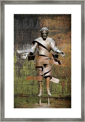Christ Arisen Sculpture Framed Print by Art Spectrum