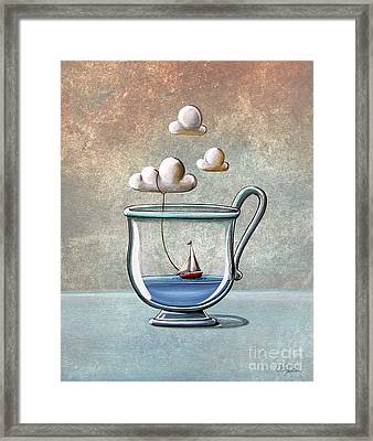 The Steam Boat Framed Print by Cindy Thornton
