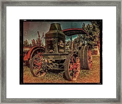 The Steam Tractor Framed Print by Thom Zehrfeld