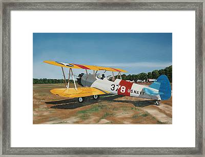 The Stearman Framed Print by Kenneth Young