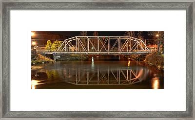 The Steel Bridge Framed Print