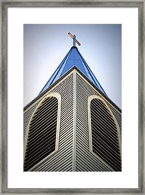 The Steeple At Peace Church Framed Print