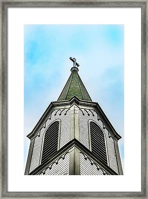 Framed Print featuring the photograph The Steeple by Onyonet  Photo Studios