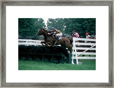 The Steeplechase Framed Print by Marc Bittan