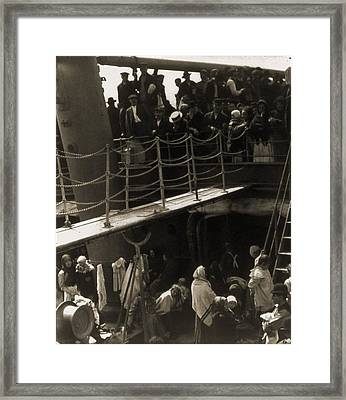 The Steerage, 1907, Immigrants Framed Print by Everett
