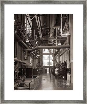 The Stegmaier Brewery Boiler Room Wilkes Barre Pennsylvania 1930's Framed Print