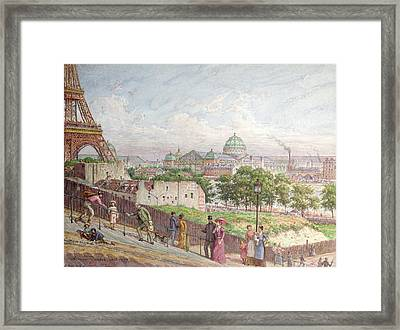 The Steps At The Rue Alboni Framed Print