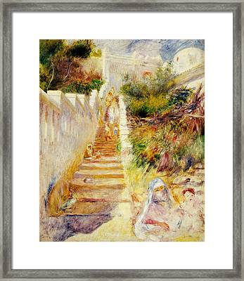 The Steps In Algiers Framed Print by Pierre Auguste Renoir