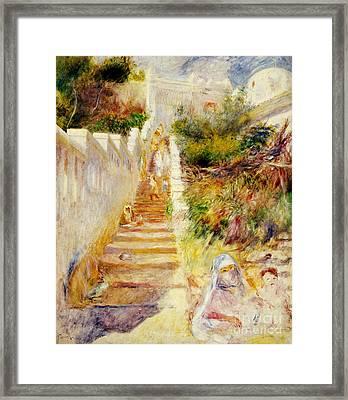 The Steps In Algiers Framed Print by Pierre Auguste Renoir