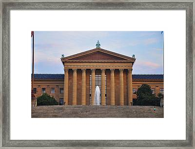 The Steps Of The Philadelphia Museum Of Art Framed Print
