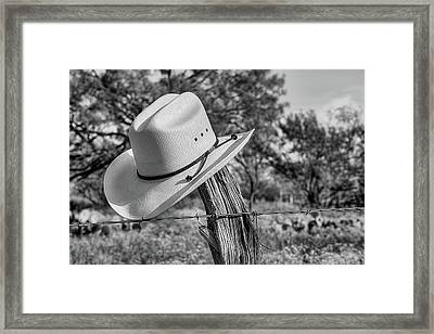 The Stetson In Black And White Framed Print