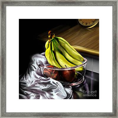 The Still Of Peace Framed Print by Reggie Duffie