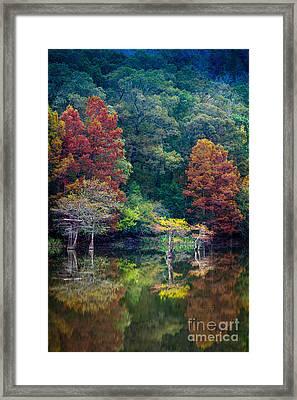The Stillness Of The River Framed Print by Inge Johnsson